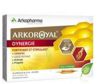 Arkoroyal Dynergie Ginseng Gelée Royale Propolis Solution Buvable 20 Ampoules/10ml à BOLLÈNE