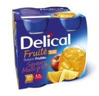 Delical Boisson Fruitee Nutriment Multi Fruits 4bouteilles/200ml à BOLLÈNE