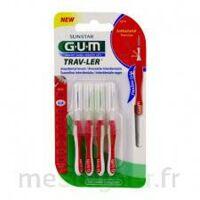 Gum Trav - Ler, 0,8 Mm, Manche Rouge , Blister 4 à BOLLÈNE