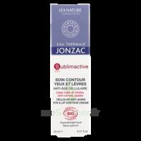 Jonzac Eau Thermale Sublimactive Crème Soin Contour Yeux Lèvres Jeunesse Immédiate 15ml à BOLLÈNE