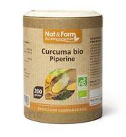 Nat&form Eco Responsable Curcuma + Pipérine Bio Gélules B/200 à BOLLÈNE