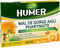 Humer Pharyngite Pastille Mal De Gorge Miel Citron B/20 à BOLLÈNE